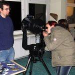 Tag der offenen Tür, Astronomie, Blick durchs Teleskop, Gutenberg-Schule Berlin