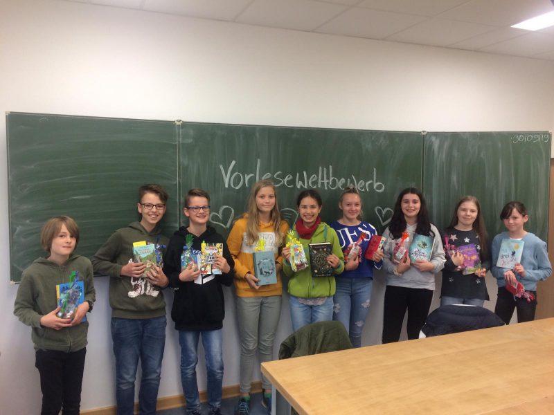 Teilnehmer des Lesewettbewerbs