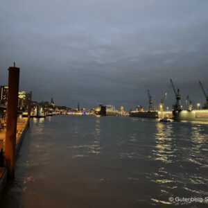 Hambuger Hafen bei Nacht